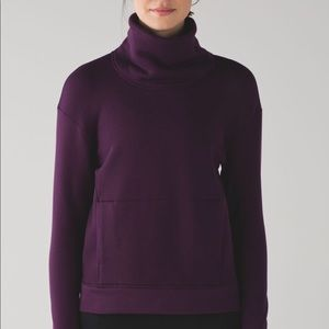 Lululemon Kick The Cold Funnel Neck— Magenta